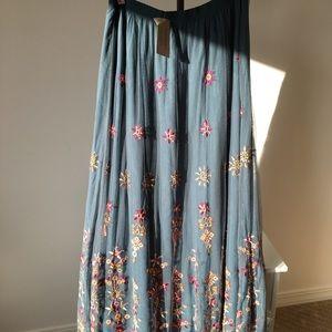 Sundance Cosima Maxi Skirt - embroidered, Elastic